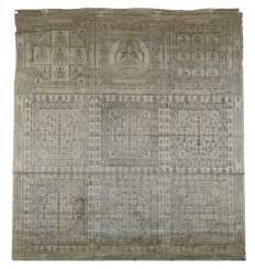 Textile with depiction of Buddhist deities