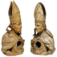 A pair of reliquary busts, Italy, 17th century