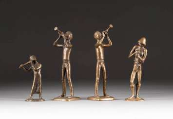 MODERN image sculptor Active in the 2. Half of the 20th century. Century. GROUP OF FOUR MUSICIANS