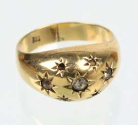antique gold ring - yellow gold 333