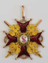 Russia: Imperial and Royal order of Saint Stanislaus, 2. Model, 2. Type (approx. 1841-1917), 1. Class gem, with swords.