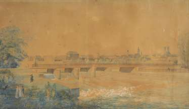 The Munich painter around 1820/30: view over the Isar