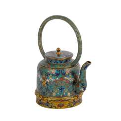 Small Cloisonné Teapot. CHINA, 19. Century