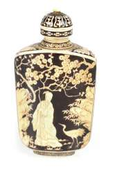 Engraved and colored Snuffbottle made of ivory with Immortal