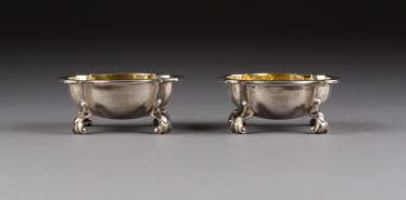 PAIR OF BAROQUE SPICE BOWLS