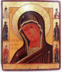The icon of the mother of God Agnelina XIX-th century