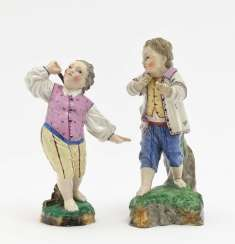 Two boys, Damm, 19th century
