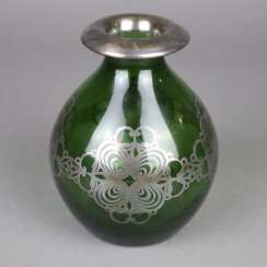 Vase with silver overlay