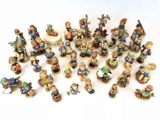 Very great Post Hummel figurines: 41 part of great children's characters, mid 20's. Century, GOEBEL.