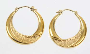 Hoop Earrings Pair Yellow Gold 333