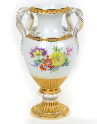 Meissen Snake Handle Vase *Flower Bouquet*