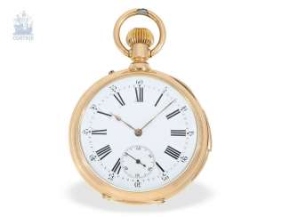 Pocket watch: - quality Swiss shock werksuhr, presumably caliber Le Coultre, CA. 1885