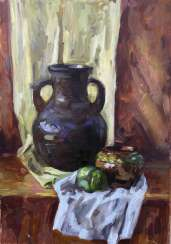 Still life with an old pitcher