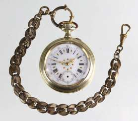 Men's pocket watch with watch chain