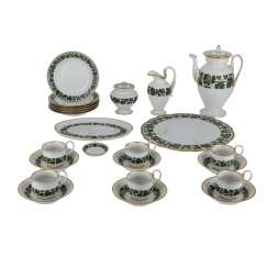 MEISSEN coffee service for 6 persons in the Empire style, 1924-1934.