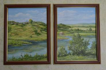 painting SUMMER (in two frames)