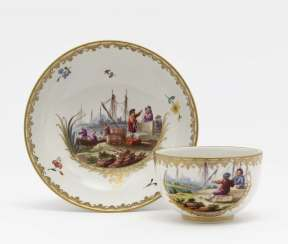 Cup and saucer, Frankenthal, 3rd quarter of the 18th century