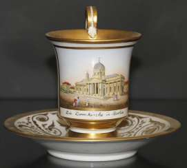 Cup and saucer with views of the Church in Berlin, KPM, first third of the XIX century