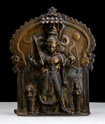 Plaque made of Bronze with the representation of a female deity