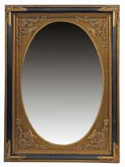 Wall mirror with oval passe-partout end of the 20th century