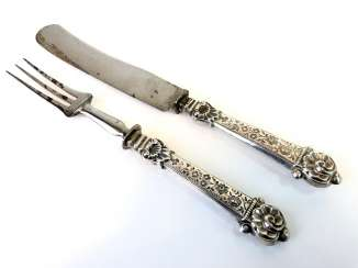 Elaborate Cutlery, Silver 800, Historicism, The End Of The 19th Century. Century, Very beautiful.