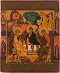 ICON WITH THE OLD TESTAMENT TRINITY Russia