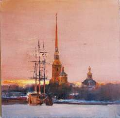 Sunset over the Neva