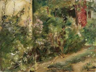 Flower terrace in the Wannsee garden to the North-East, 1920 (?) , Liebermann, Max 1847-Berlin - 1935 ibid.