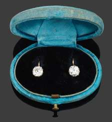 Pair Of Belle Epoque Diamond Earrings