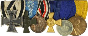 Great medal bar with 6 awards: