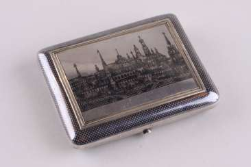 Cigarette case with niello, 84 sample.