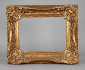 Gold stucco frame in a Baroque style, 20. Century