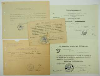 Prussia: certificate of group of officer-assistant headmaster ester of the mountain M. G. Department, army group Scholtz.
