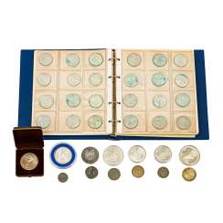 Coins and medals, with SILVER -