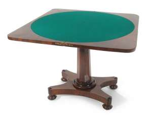 Game table, 19.CENTURY., ROSEWOOD