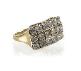 Diamond ring, 14Kt Gg-Rail
