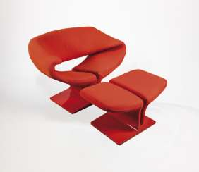 Ribbon Chair with foot stool
