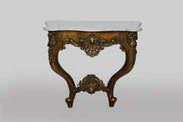 Console table with marble top dimensions: 80 x 38 x 75 cm.