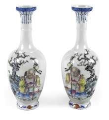 PAIR OF SMALL VASES, CHINA,