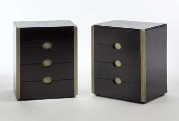 Pair of four-drawer dresser