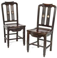 Pair Of Hardwood Chairs