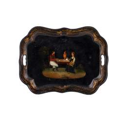 Russian painted tray