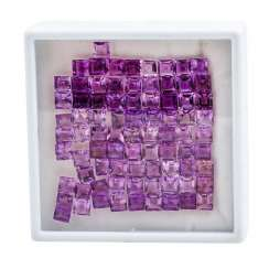 Mixed lot of 81 amethysts