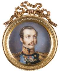 VERY FINE MINIATURE WITH THE PORTRAIT OF ALEXANDER II OF RUSSIA