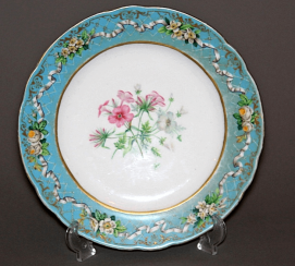 Plate made of porcelain of the Imperial porcelain factory