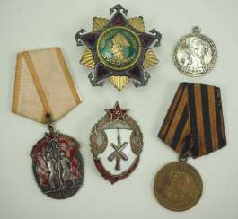 Soviet Union: Lot of awards. Various. Without commitment. Condition: II