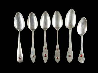 SIX NORTH-GERMAN DINING SPOON