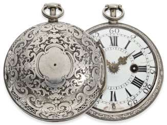 Pocket watch: rare, early Oignon with unusual Repetition with only a Hammer, De Covigny Paris around 1710