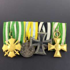 Clasp by the Kingdom of Saxony / WK1: EK2, Friedrich August medal honour cross with swords, service exams 1.K