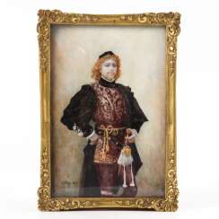 Large miniature of a man in a Renaissance costume